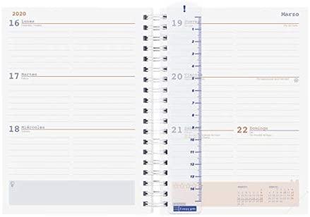 Finocam Mini Institut Aire - Semana Vista Agenda 2019-2020, 120 x 169 cm, Multicolor