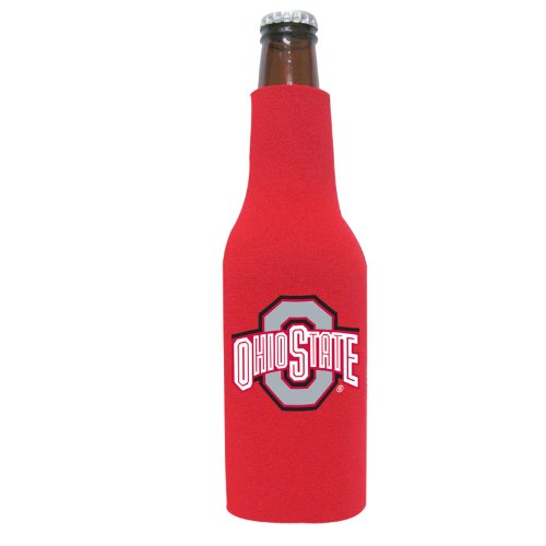 NCAA Ohio State Buckeyes Red Sports Fan Cold Beverage Koozies, Team Color, One Size - Buckeyes State Beverage Ohio