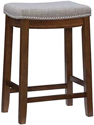 Linon Claridge 26″ Wood Counter Stool