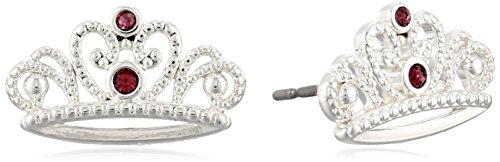 Disney Girls' Princess Sophia Silver-Plated Stud - Princess Earrings Disney