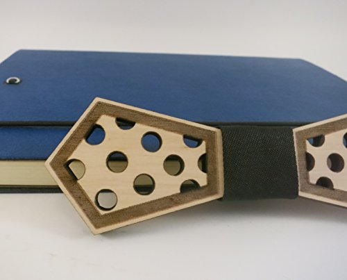 Polka dot Wooden Bowties, Wood Bow Tie, Fashion Accessories For Men, Women, Yuccies, Groomsmen