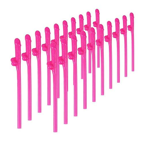 12 Bachelorette Party Straws & Games : Pink Funny Bridal Shower Party Flavors Hen, Girls Night Out Naughty Novelty