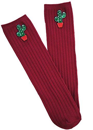 Bordeaux Fille Taille Chaussettes Acvip Unique Rouge XxpqZPnTTw