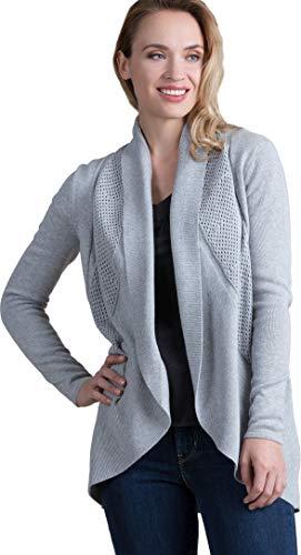 - Dawn Organic Peruvian Pima Cotton Circle Cardigan Sweater Silver