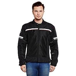 Royal Enfield Nylon Black Riding Jacket for Men Size (XL) 44 CM (RRGJKH000042)
