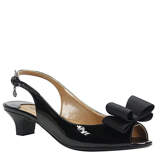 Patent Pump J Black Renee Landan Women's wqHXap