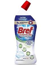 Bref Ultimate Gel White Active+ Ultra Bleach Power, Hospital grade disinfectant Toilet Cleaner gel, 450m(packaging may vary)