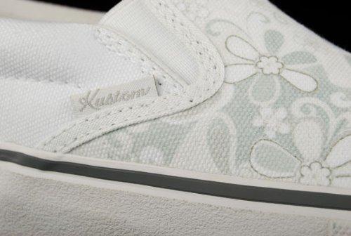 Kustom Weiß Sneaker White Prairy Schuhe rY08cB8Ta