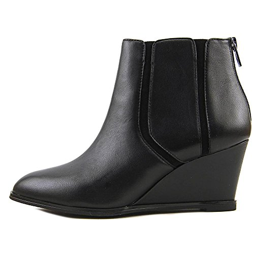 Black Ankle Closed Fashion Boots Toe Alfani Leather Leather Calistah Womens a8wq48