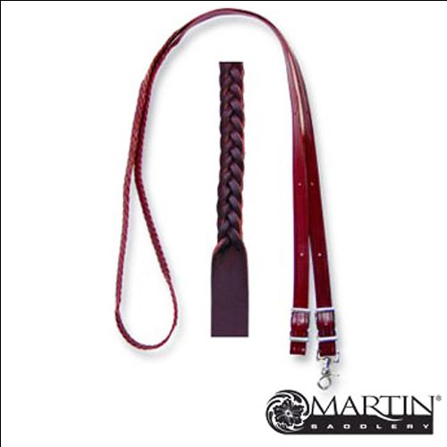 Martin Saddlery 3/4in 5 Plait Braided Leather Rein - Martin Saddlery Roping Rein