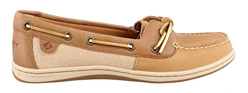Sperry Top-Sider Women's Barrelfish Boat Shoe, Linen Oat - 7.5 B(M) US