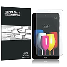 LG G Pad IV 8.0 / LG G Pad X2 8.0 Screen Protector, AVIDET Premium Tempered Glass Screen Protector for LG G Pad 4 8.0 / LG G Pad X2 8.0 (9H Hardness 0.3mm)