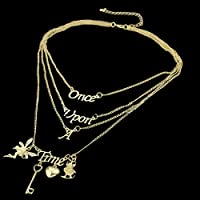 Women New Vogue Rhinestone Fairy Key Love Heart Letter Pendant Charm Necklace