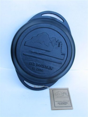 Pre-Seasoned Cast Iron 12 x 9.5 x 2 Inches By Old Mountain Pie Pan
