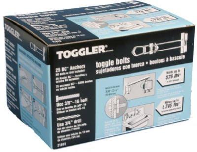 MECHANICAL PLASTICS CORP Toggler 25-Pack 3/8 x 16-Inch Toggle Bolt