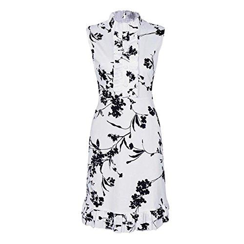 規定へこみそのようなFeelinGirl(JP) ドレス ワンピース 膝丈 花柄 ノースリーブ スリム 大人 パーティー お呼ばれ 結婚式