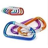 Ochoos Best Price 5cm D Shape Carabiner-Alloy Hook,Promotion Gift-New Material Aluminium Key Carabiner for Trip