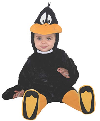 Looney Tunes Daffy Duck Romper Costume, Black, 12-18 Months -