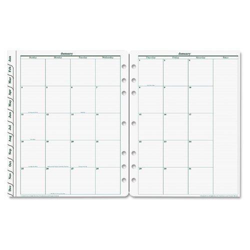 FranklinCovey Original Dated Monthly Planner Refill, January-December, 8-1/2 x 11, 2014 (2014 Planner Franklin)