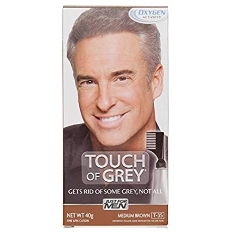 Just For Men T35 Touch Of Grey - Hair Color - Medium Brown Grey 40g 440018