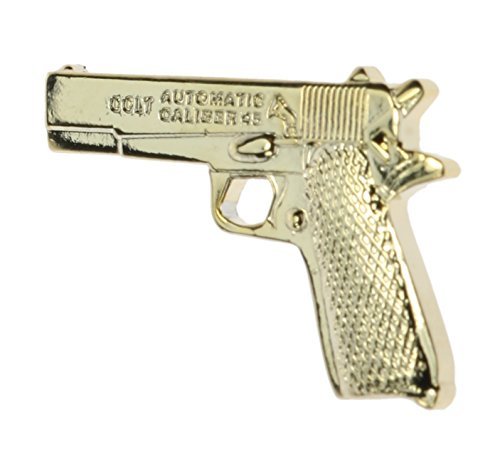 .45 Pistol Miniature Replica Hat or Lapel Pin Hon14777 Gun Pin