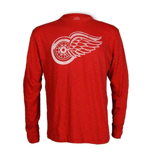 Detroit Red Wings Rescue Long Sleeve Scrum T-Shirt, Red, XL