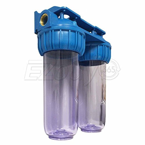 Dual Whole House Water Filter Purifier with Carbon Block and Sediment Filters by Ronaqua (Image #1)