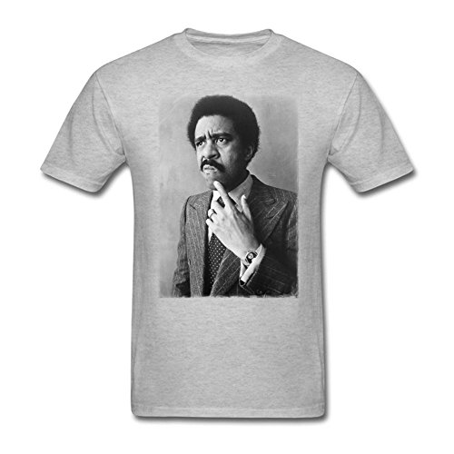 - Men's Richard Pryor Thinking Short Sleeve Classical Printed T-shirt Grey XL