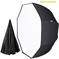 Abaige 32 Inch Octagon Softbox Portable Umbrella Photography Reflector Diffuer Octagonal Speedlite with Carrying Case for Studio Photo Flash Speedlight
