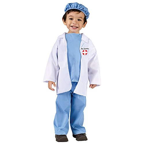 Fun World Costumes Baby's Doctor Toddler Costume, Blue/White, Small(24MO-2T) ()