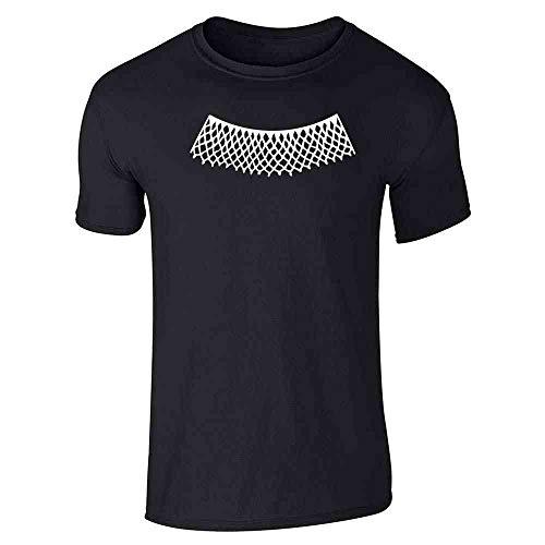 RBG Lace Jabot Collar Supreme Court Justice Black L Short Sleeve T-Shirt]()