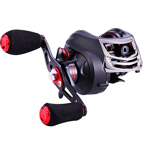 TROUTBOY Fishing Reel - CNC Machined Aluminum Spool -11+1 Shielded Bearings - Magnetic Tuned Brakes Baitcasting Reels for Bass Casting Fishing
