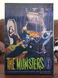 The Munsters Living Room Diorama Plastic Model Kit