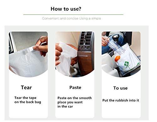 Car Biodegradable Using special adhesive Disposable Garbage Bag,15 Pack