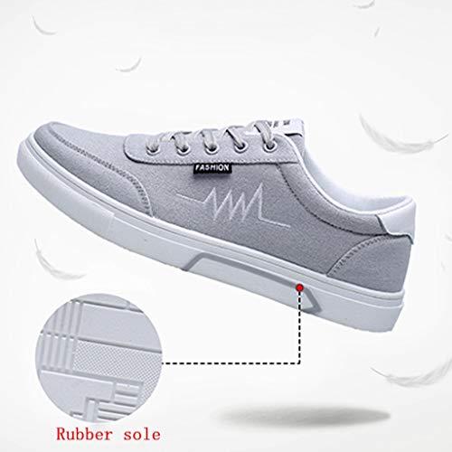estate WangKuanHome scarpe traspirante 46 da Color Blue selvatici di Size da tendenza bordo scarpe Scarpe Gray di scarpe uomo tela uomo casual tela I4wrIq
