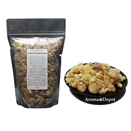 Indian Frankincense Resin Organic Aromatic Tear Rock Incense Olibanum Gum Bulk (1Lb)