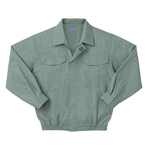 空調服 綿薄手長袖作業着 M-500U (カラーモスグリーン: サイズXL) 電池ボックスセット B077RX7T9T