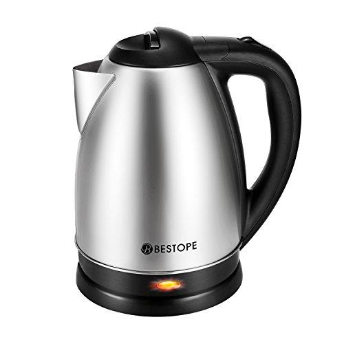 BESTOPE Electric Kettle Cordless Tea Boiler wit...