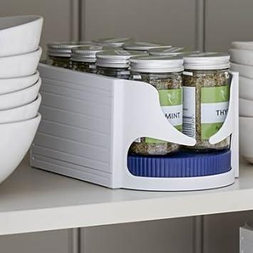 organizer scaffale da cucina Plastica UPP/® 2er Sparset S ROTO Caddy portaspezie blau