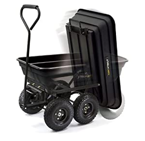 Gorilla Carts GOR200B Poly Garden Dump Cart with Steel Frame and 10-Inch Pneumatic Tires by Gorilla Carts