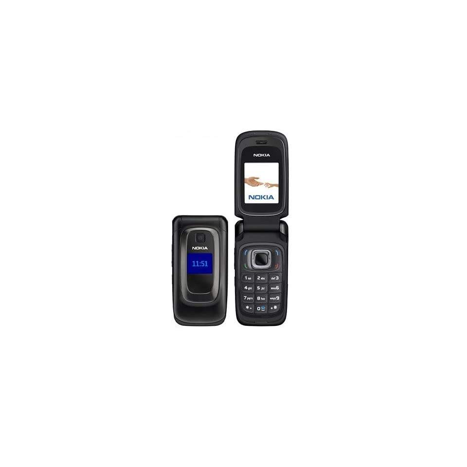 Nokia 6085 Unlocked GSM Flip Phone with VGA Camera, Bluetooth, FM Radio, /MP4 Player and microSD Slot   Black