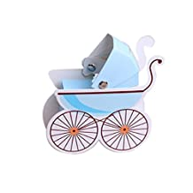 Tinksky Creative Baby Stroller Shaped Candy Box Cute Baby Gift Box 10pcs (Blue)