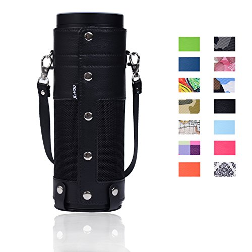 Amazon-Echo-Case-Cover-XeYOU-Amazon-Echo-Carry-Case-Premium-PU-Leather-Sleeve-Carry-Bag-Cover-with-Removable-Holding-Strap-for-Amazon-Echo-Speake