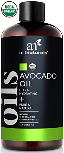 ArtNaturals USDA Organic Avocado Oil - (16 Fl Oz / 473ml) - Massage Oil & Moisturizer  100% Pure Expeller Pressed, Hexane Free- for Cooking Hair, and Skin  Treatment for Age Spots Dry Skin and Scars