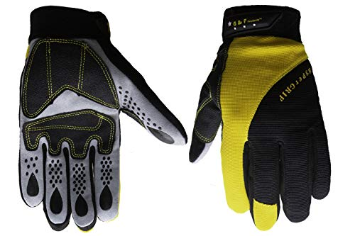 G & F 1089M Hyper Grip Non-Slip High-Performance Mechanics Work Gloves, Driving Gloves, Medium