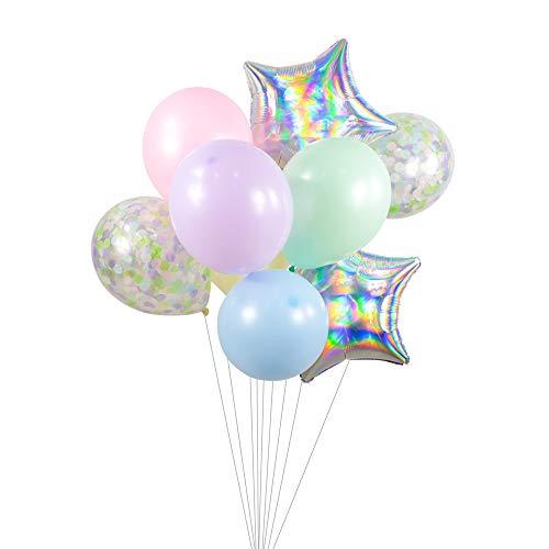 Pixie Stick Balloon Cluster - Lavender Pink Pistachio Blue Yellow