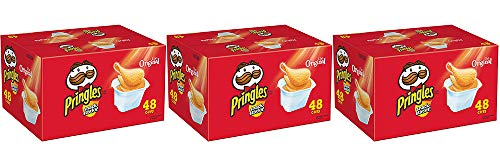 Pringles Snack Stacks Potato Crisps Chips, Original Flavored, 32 Oz, 48 Cups (3 Containers)