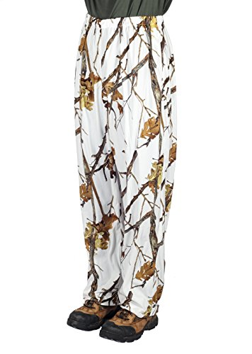 Gamehide Ambush Snow Camo Cover Up Pant Woodlot White ()