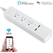 Smart Power Strip, WiFi Remote Control Surge Protector Compatible with Alexa & Google, No Hub Required