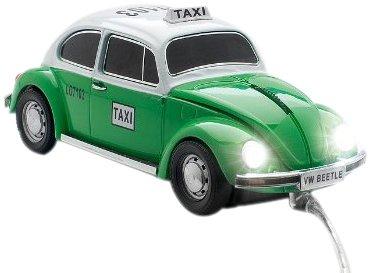 クリックカーマウス フォルクスワーゲン ビートルタクシー 高級車USB光学式マウス グリーン 660165